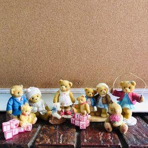 Vintage Cherished Teddy Bear Collective Lot figure